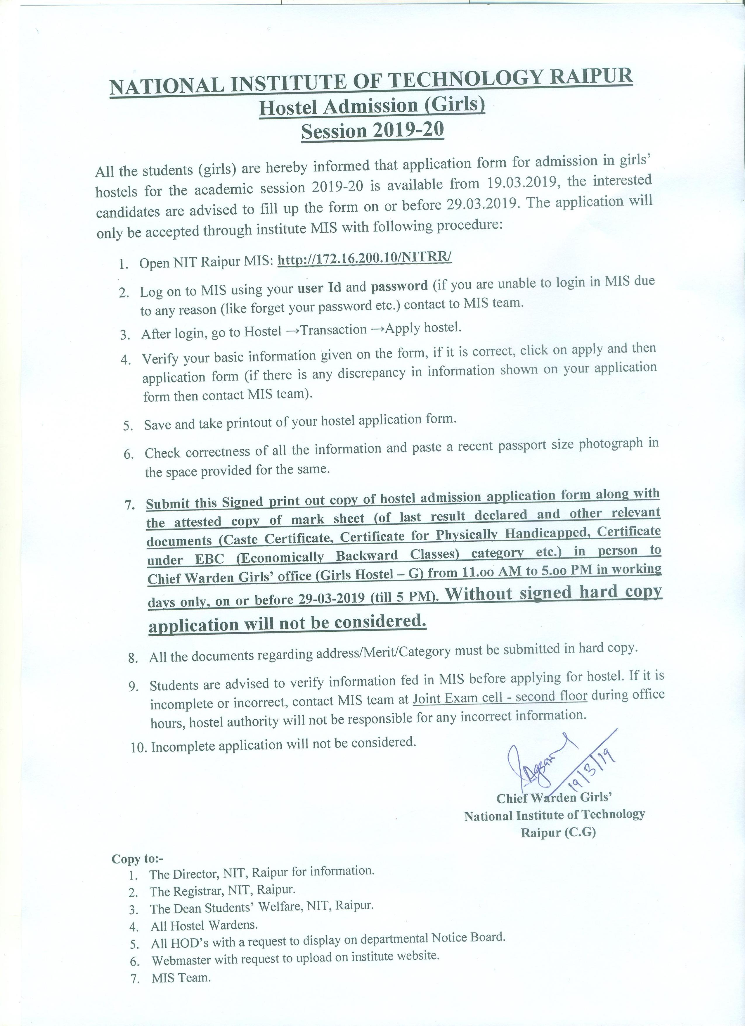 National Institute of Technology Raipur :::